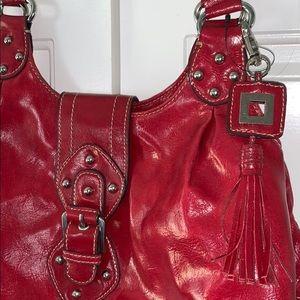 St. John's Bay Bags - Red hobo boho satchel purse tassel